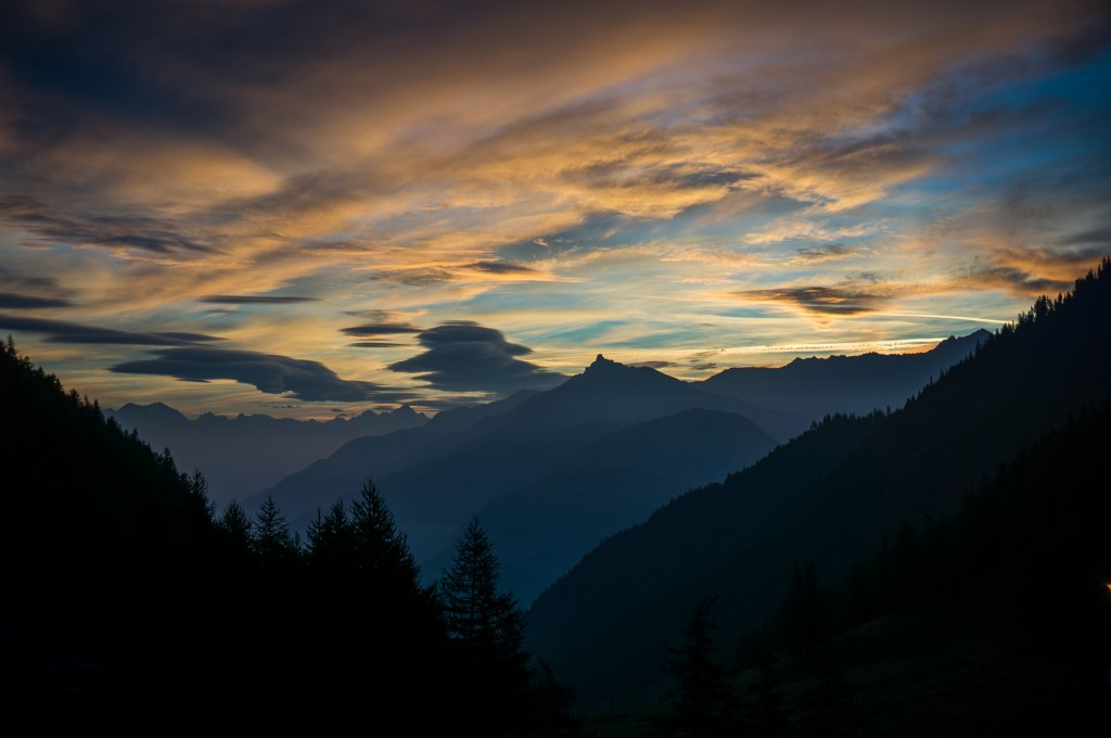 Haute Route - Sunrise at Forclaz